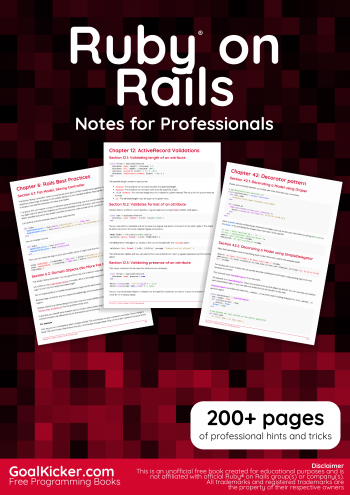 E-book: Ruby® on Rails Notes for Professionals book