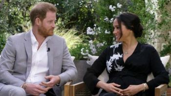 Image of Ms. Meghan Markle and Prince Harry's Interview on CBS