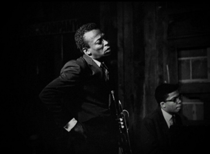 Herbie Hancock and Miles Davis