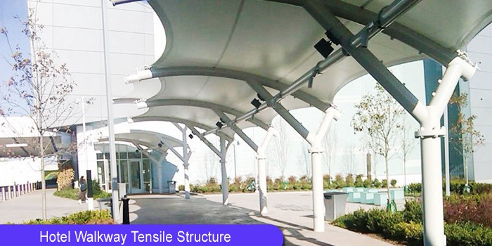 Hotels Walkway Tensile Structure