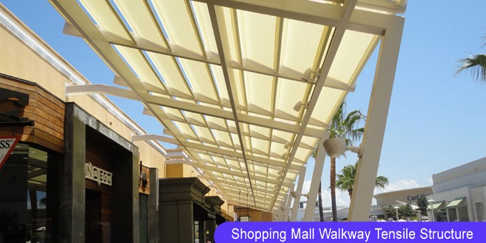 Shopping Mall Walkway Tensile Structure