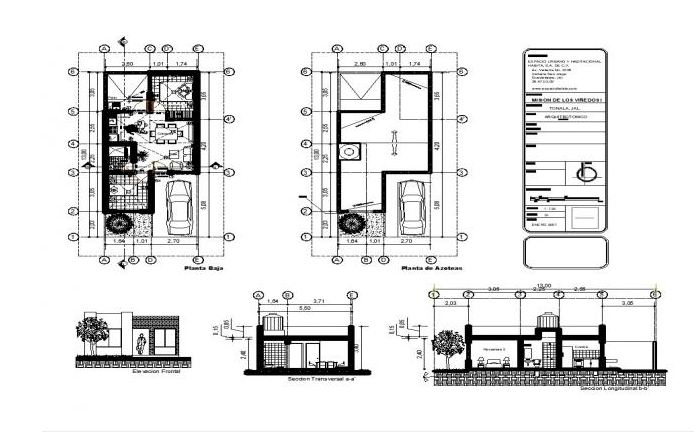 House plan with detail dimension in dwg file - Cadbull