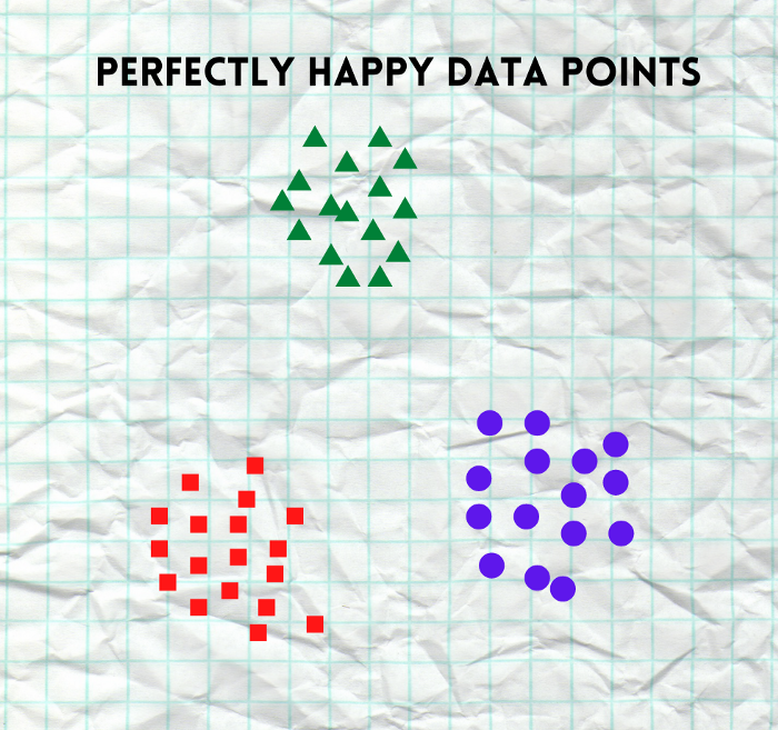 A representation of finely clustered data points