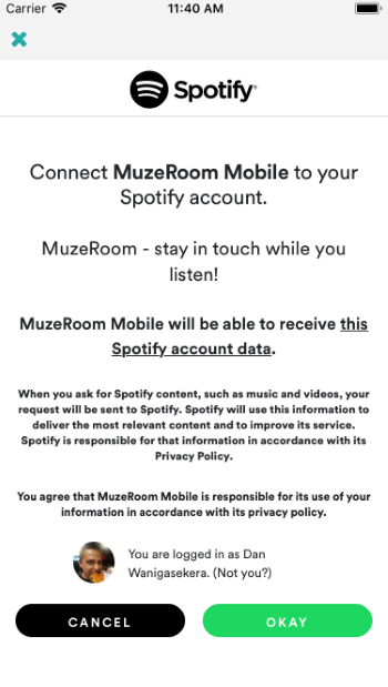 Connecting Spotify With the MuzeRoom App - The World of