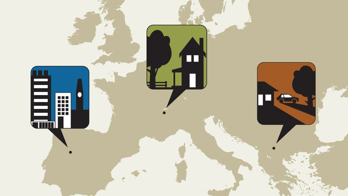 Measuring community type in Europe