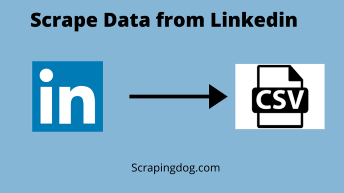 Scrape data from Linkedin using Python and save it in a CSV file