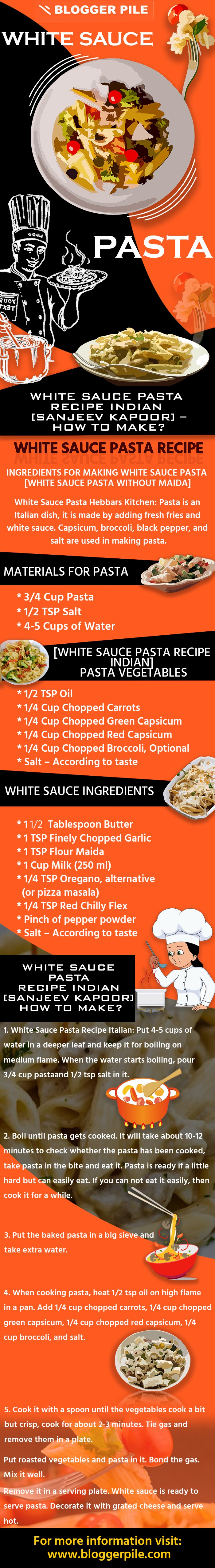 White Sauce Pasta Recipe Indian Sanjeev Kapoor How To Make By Bloggerpile Medium