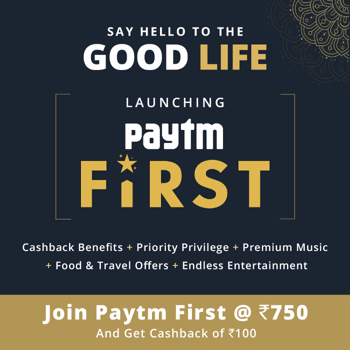 "Launching ""Paytm First"" — Our premium loyalty program"