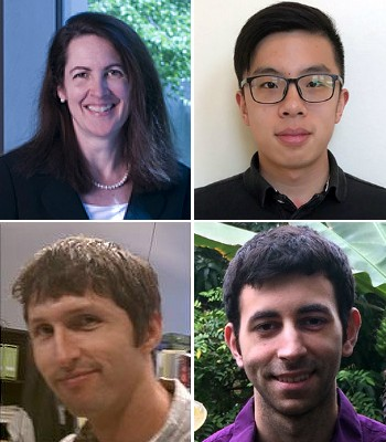 Clockwise from upper left :Kathleen Stebe, Tianyi Yao, Nicholas Chisholm and Edward Steager
