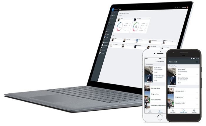 Microsoft Planner on laptop and phones