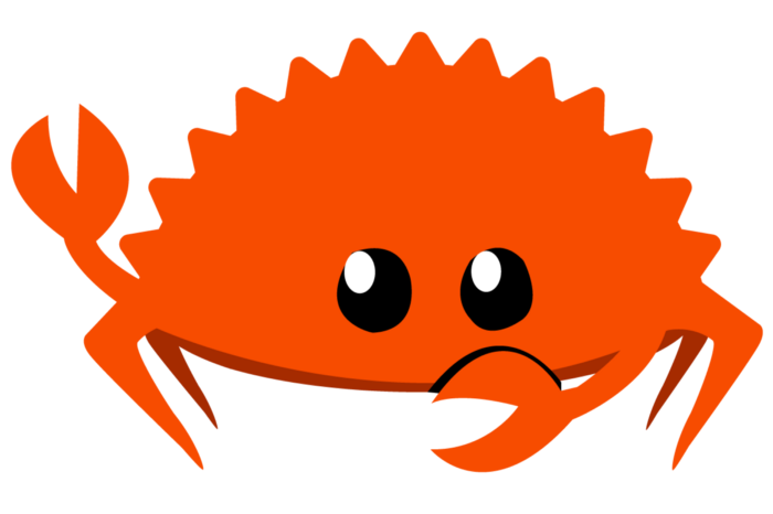 Ferris, the Rust language mascot.