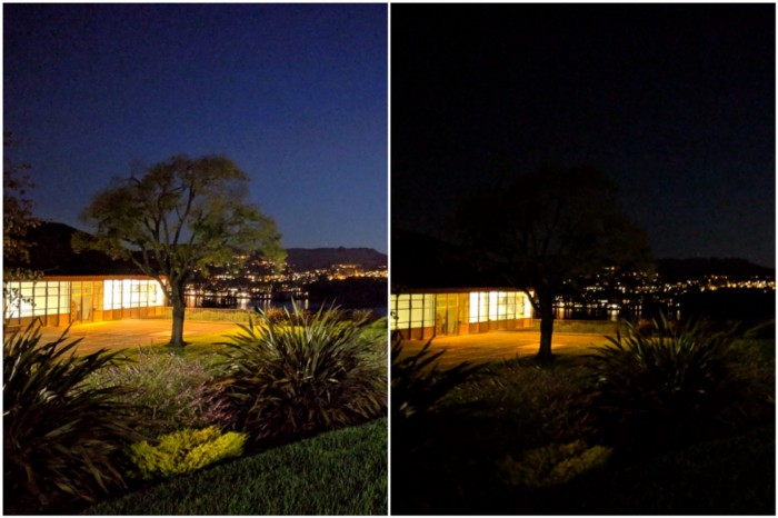 demonstration of night mode on the pixel device
