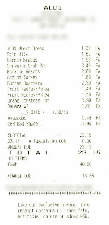 Show Us Your Grocery Receipts, Part Eight: Giant Eagle