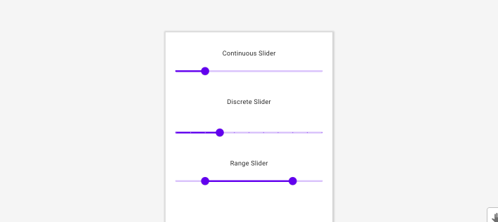 Sliders—Material Component For Android