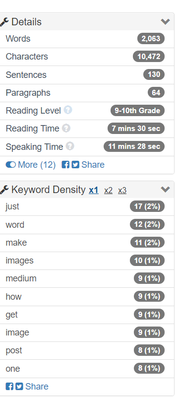 Image of Word Counter free tool
