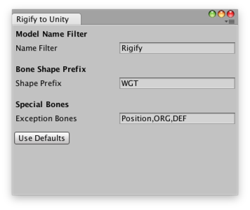 Blender with Rigify to Unity and Humanoid Animation support