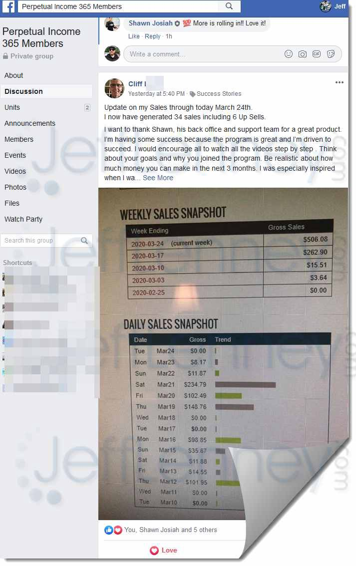 Facebook Group of Perpetual Income 365