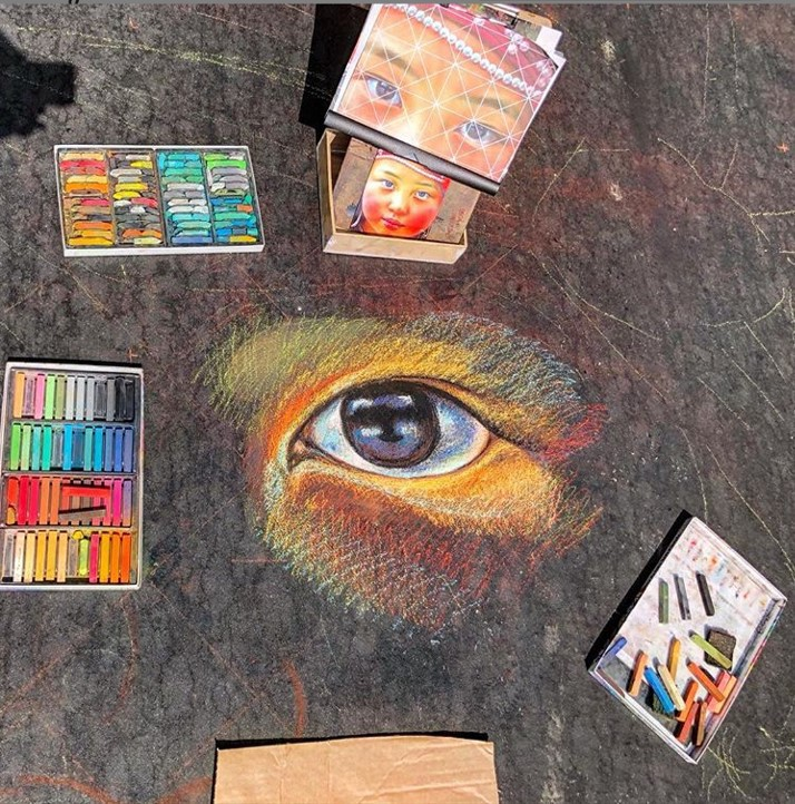 The Pavement Picasso: Talking sidewalk murals with the Bay Area's chalk art guru