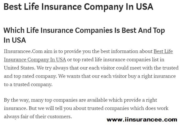 Best Life Insurance Company >> Best Life Insurance Company In Usa Rohit Rana Medium