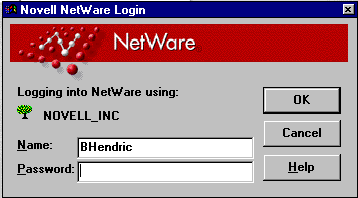 This shows an old style Grey and Red Novell Netware Login prompt from the mid 1990s