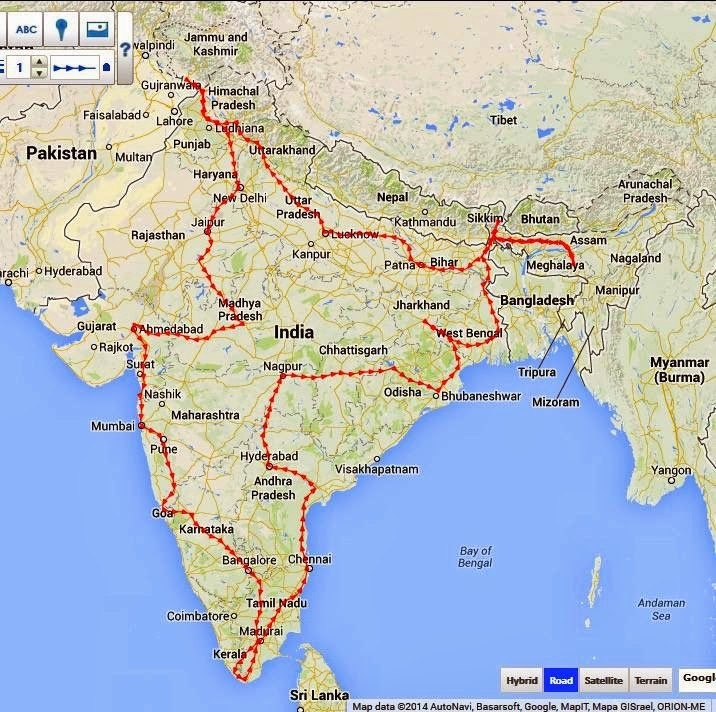 My Pan India Motorcycle Tour - letsbegenuine's Travel ... Map My Travel Route on map my trip, plan my route, map my distance, map of my land, map my name, map out a route trip, chart my route, map my run, map my place, mapping a route, map my city, map my drives, map my state, map sf 5k route,
