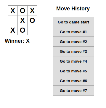 Screenshot of Tic Tac Toe game based on the React framework but written in Python.