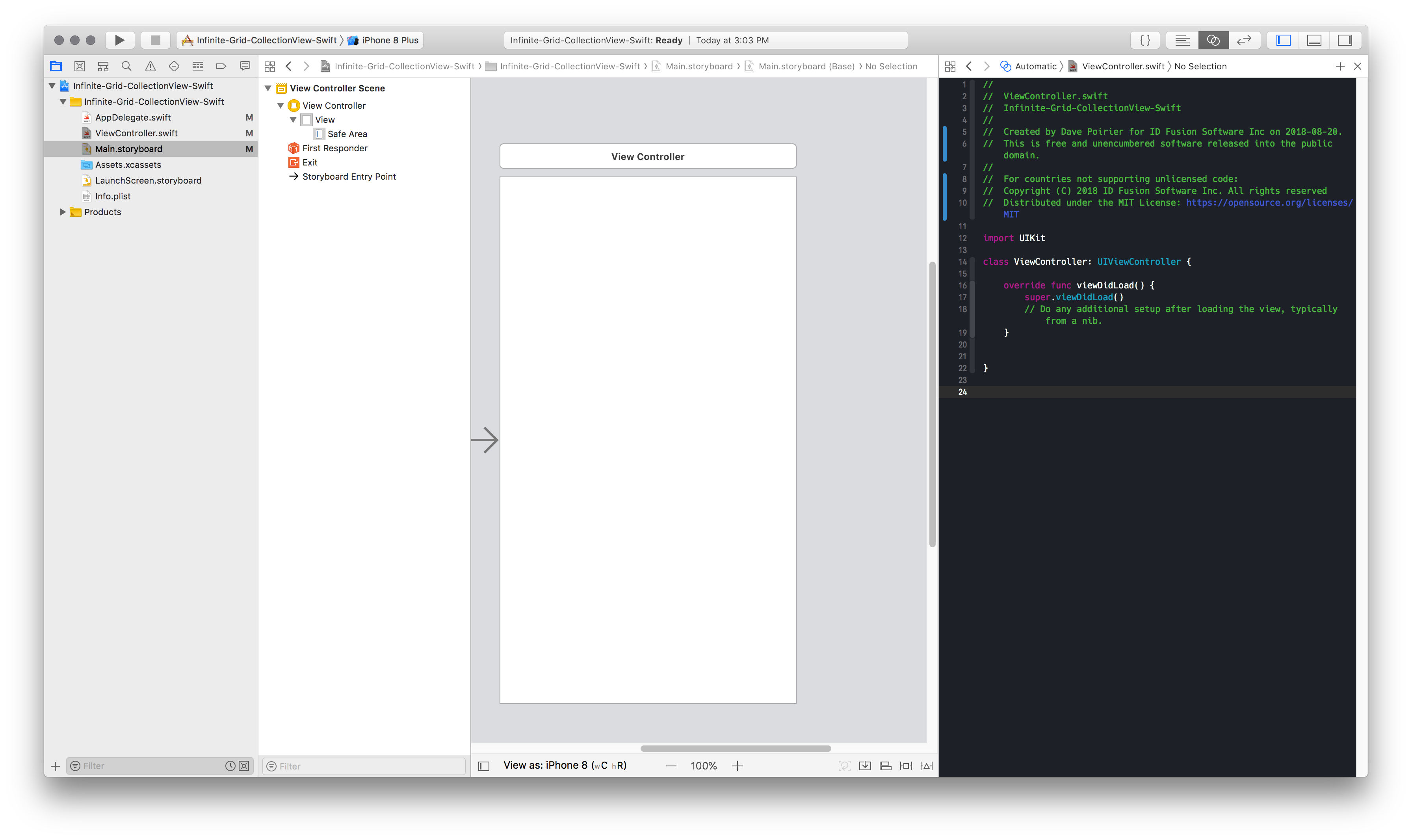 Creating an infinite grid on iOS — Using UICollectionView