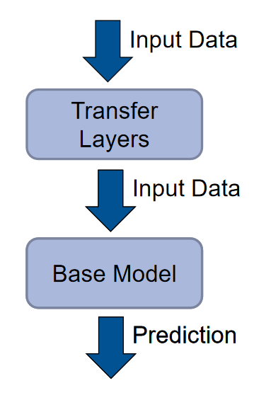 The transfer layers are on top of the base model.