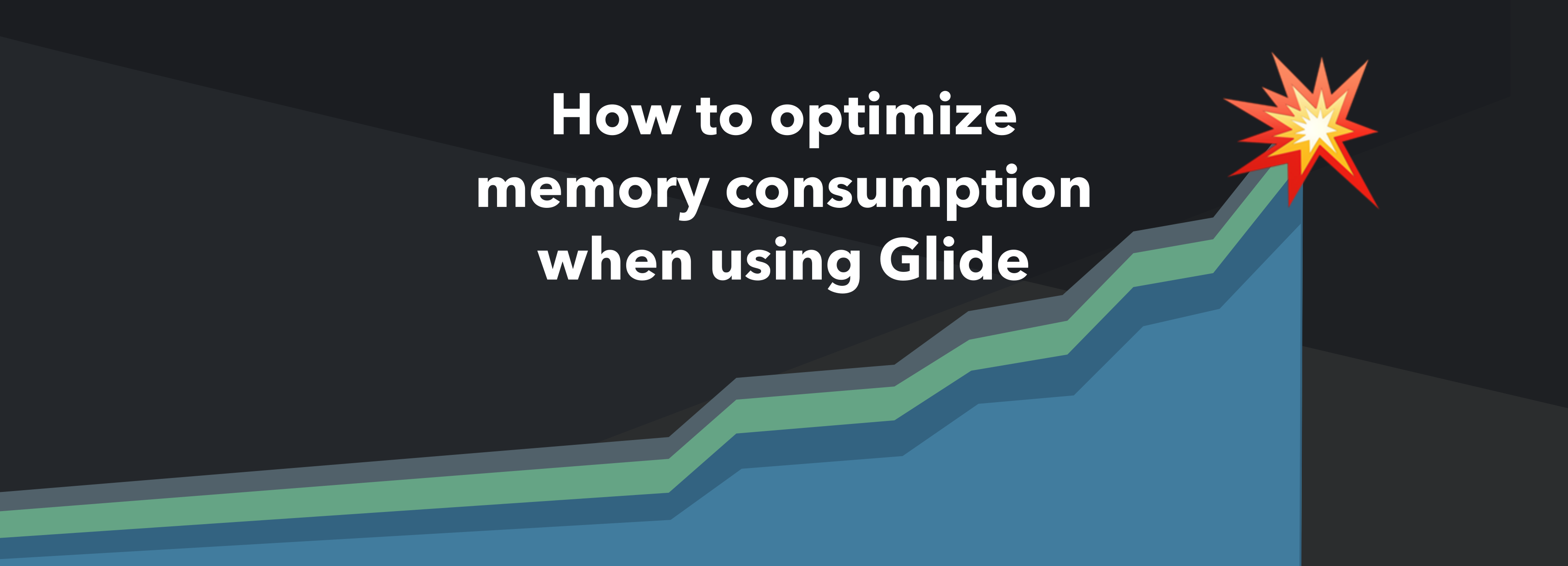 How to optimize memory consumption when using Glide