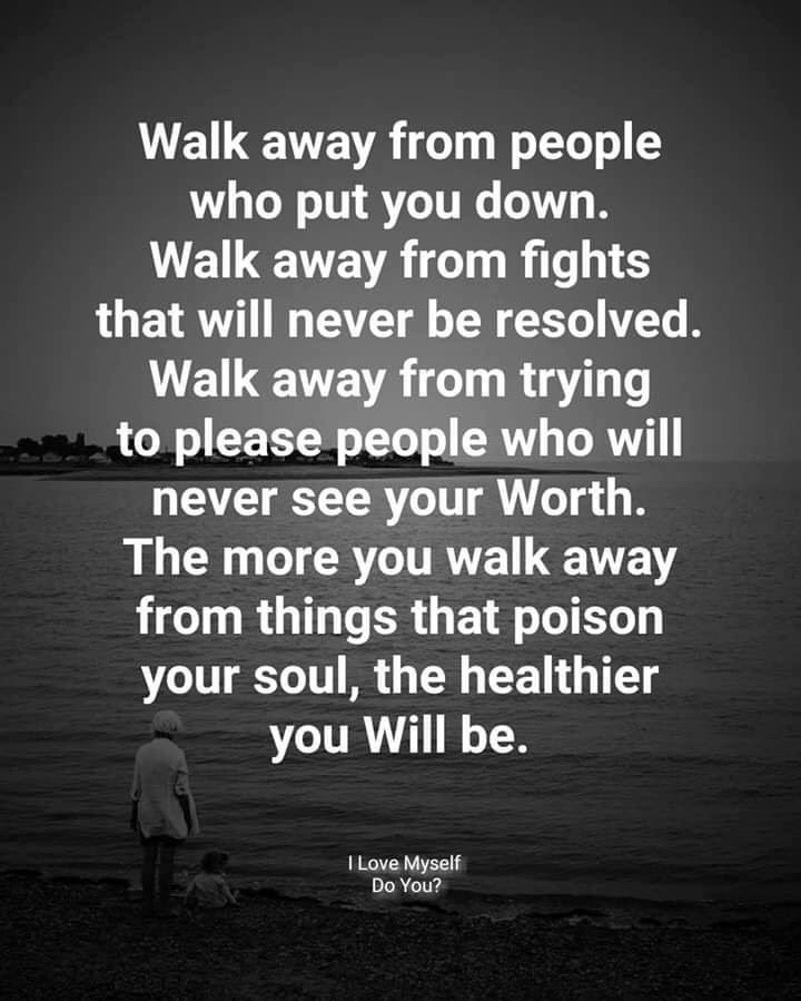 Need when to walk you to away sometimes know Know When