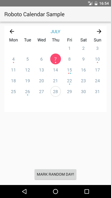 Android Custom Calendar with events - Patel prashant - Medium