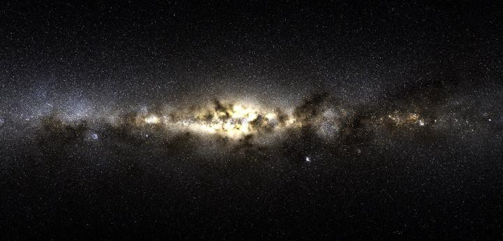 A band of galaxies resembling the Milky Way as seen from Earth.