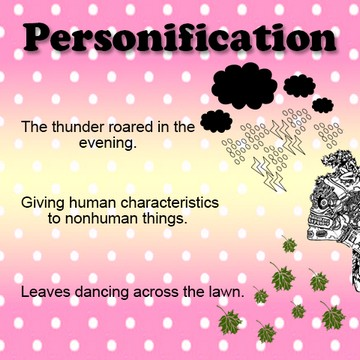 examples of personification figure of speech sentences