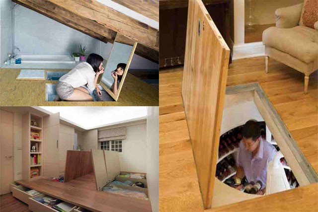 Who Would Have Thought That Your Floor Can Be A Perfect Place To Personal Items And Hide It On Plain Sight When You Live In Tiny House