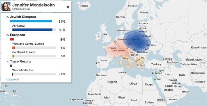 ancestry dna results example