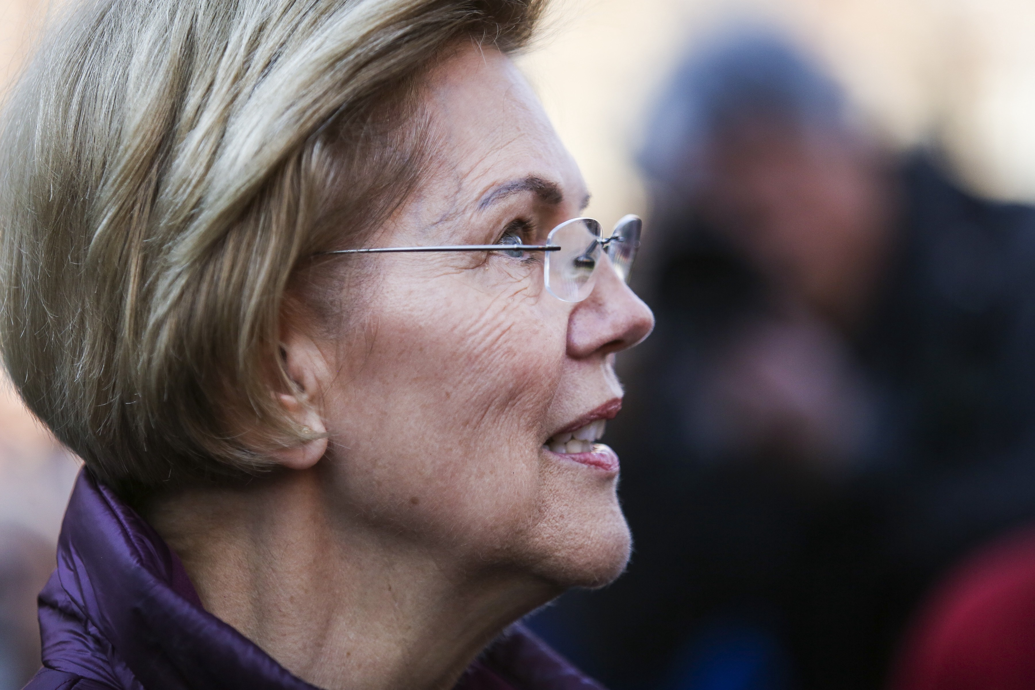 Elizabeth Warren addresses the media after dropping out of the Democratic presidential race in Cambridge, MA on March 5, 2020