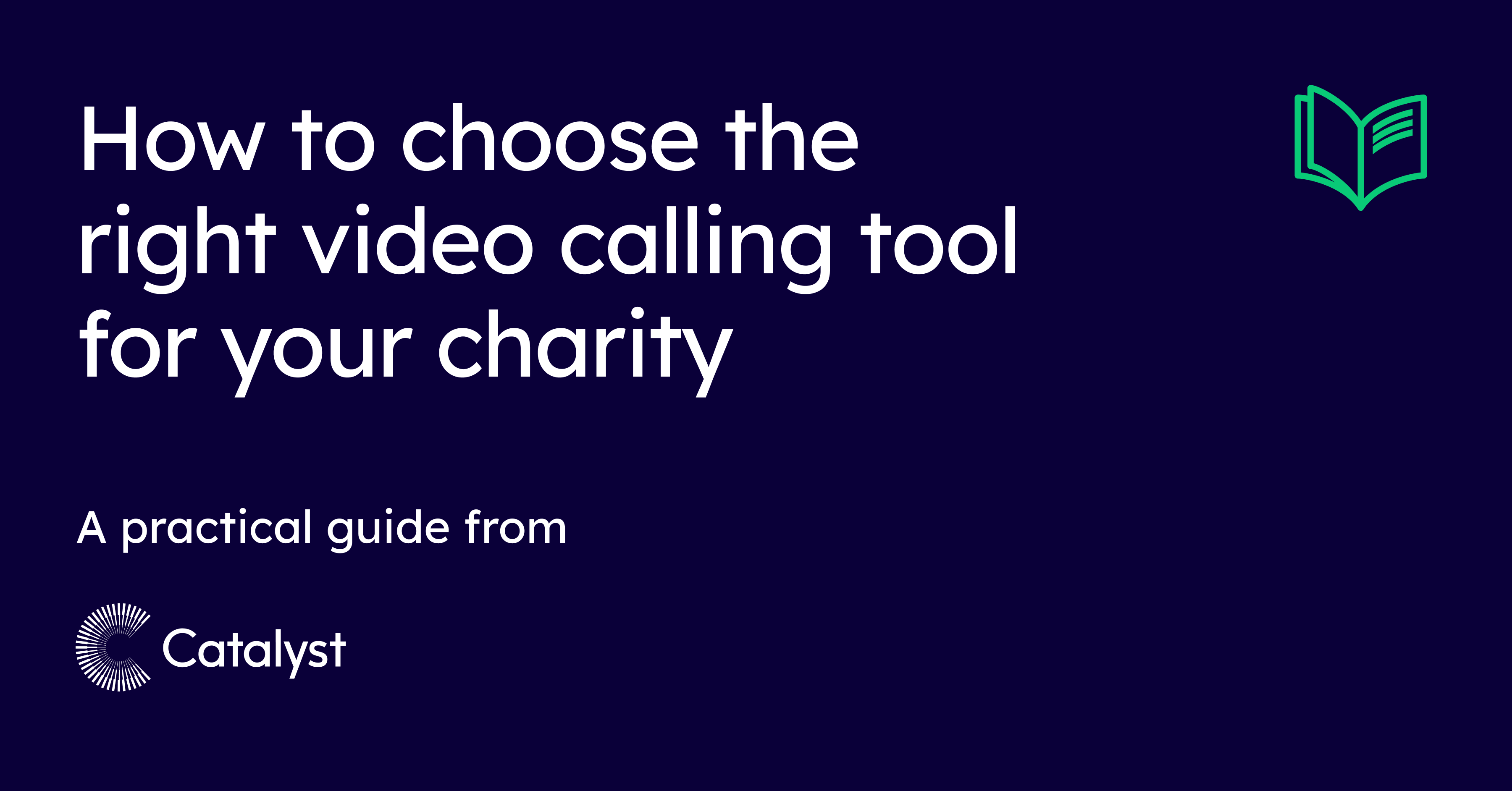 How to choose the right video calling tool for your charity