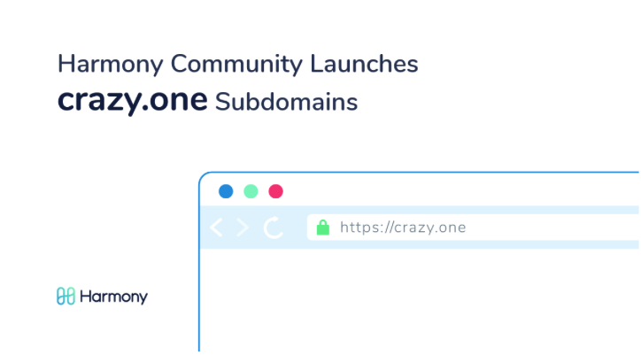 Harmony Community Launches Crazy.ONE, The First subdomain NFT