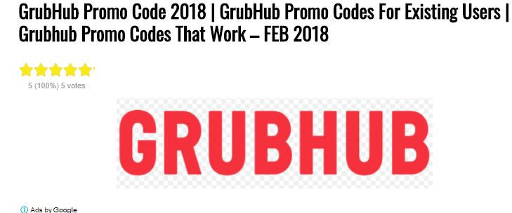 GrubHub Promo Codes 2018 , Codes that Work - Saurabh Banyal