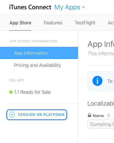 iTunes with App Information section selected