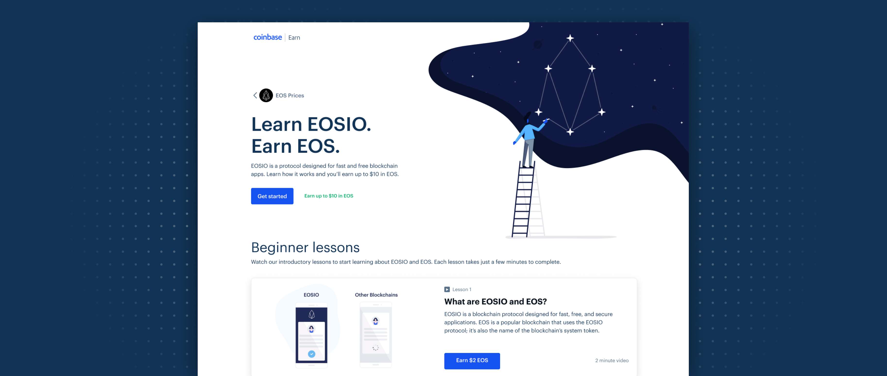 Earn EOS while learning about the EOSIO protocol and EOS