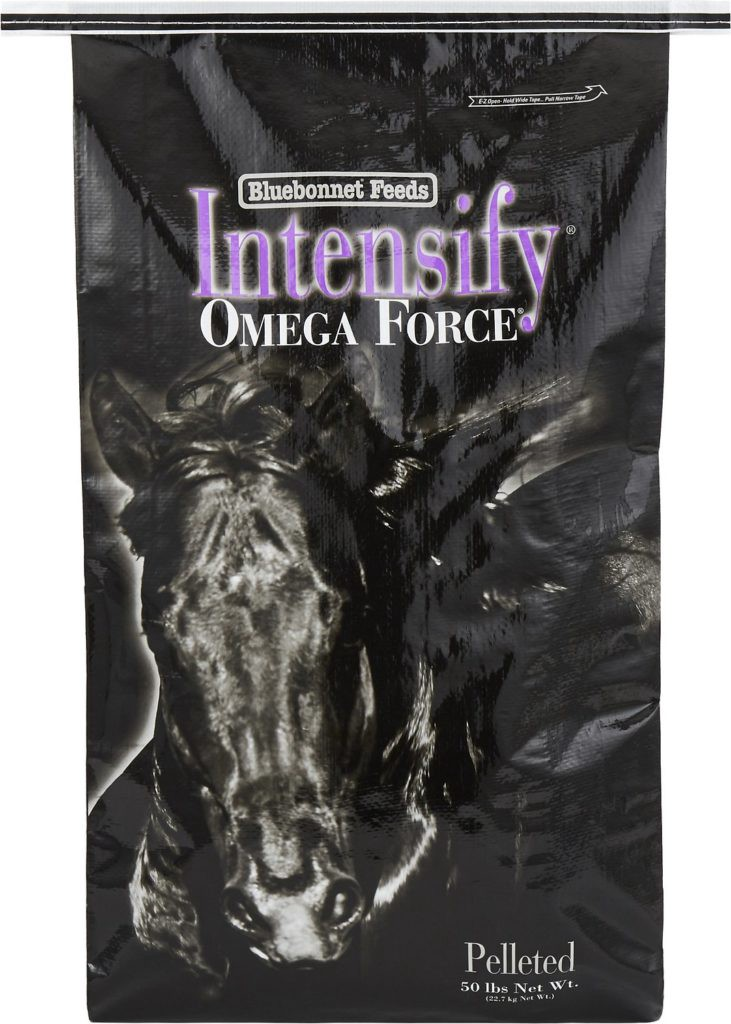 Bluebonnet Feeds Intensify Omega Force High Protein, Low Starch Horse Feed
