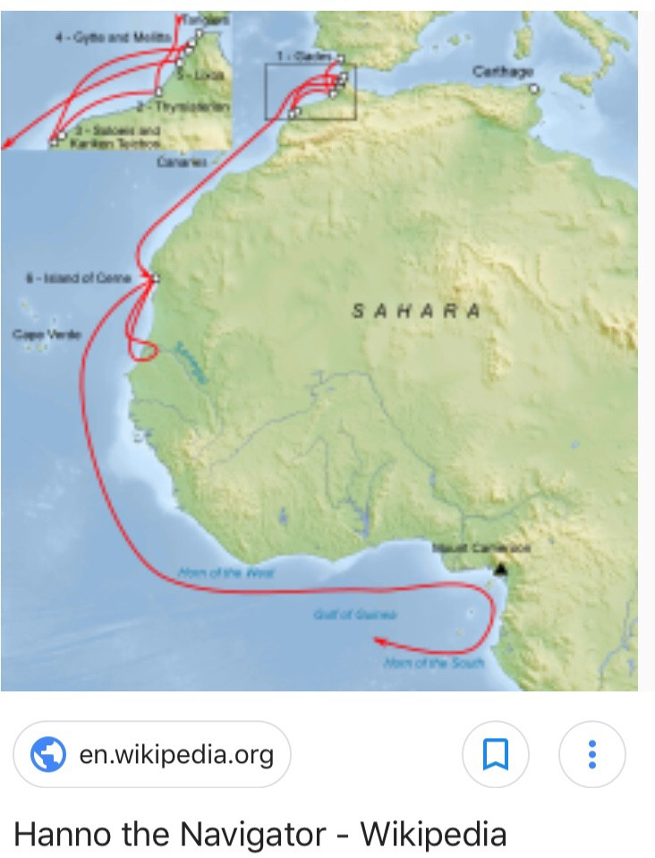 In 500 BC, Hanno the Navigator found an island populated with hairy savage  rock throwing people. Any chance that these were archaic human tribes  instead of Gorillas? | by Francis Korkor | Medium