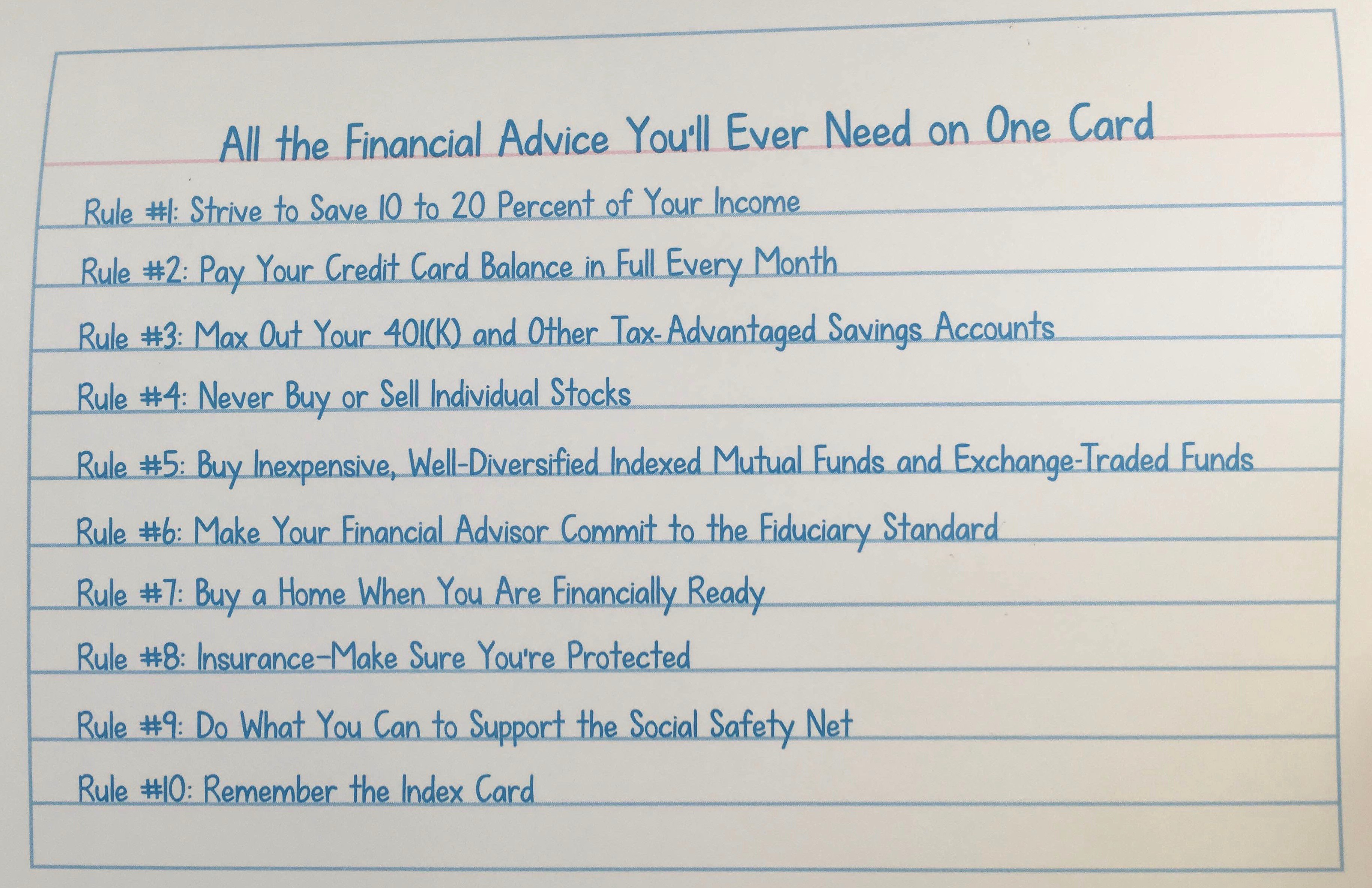 Index card investment advice 10 mejores brokers forex