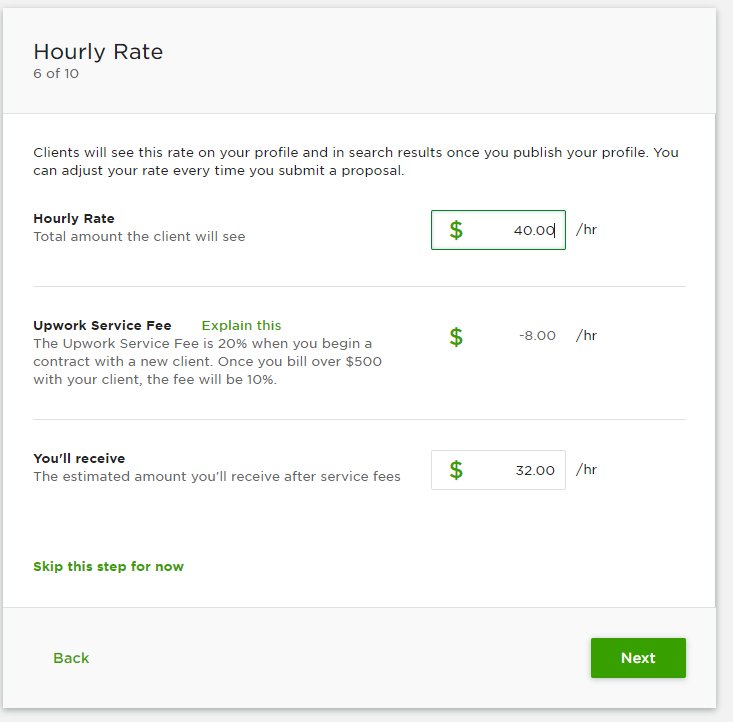 The Hourly rate