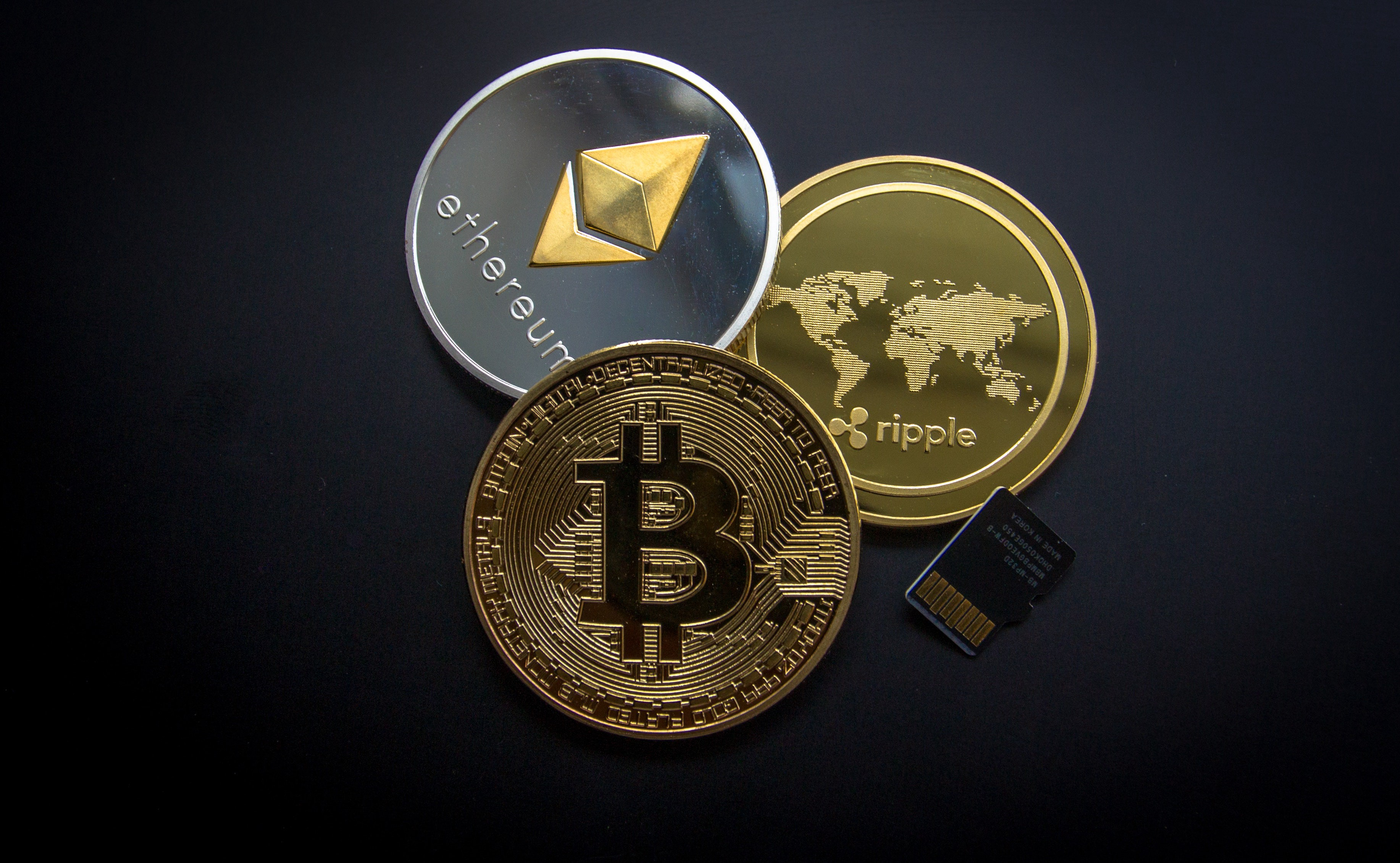 ether, bitcoin, ripple