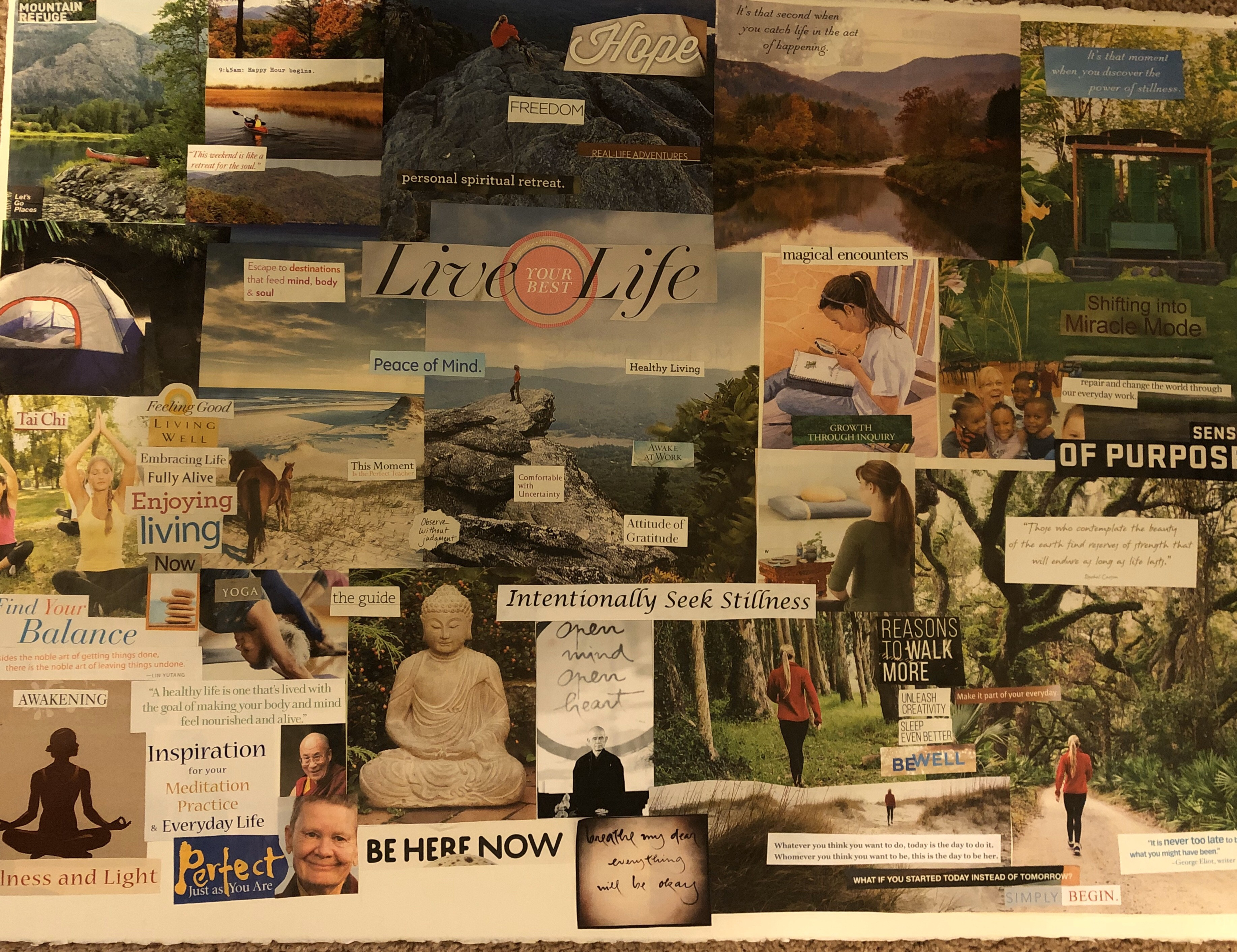 Setting Intentions for 2020 Using a Vision Board , The