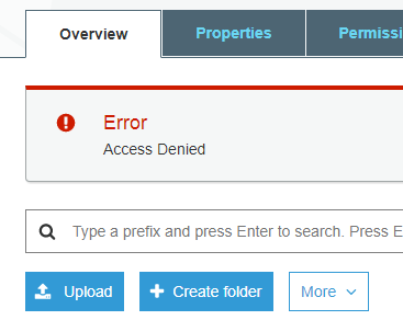 Fix the error HTTP 403: Access Denied from Amazon S3