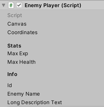 Example Headers for variables in Unity Inspector
