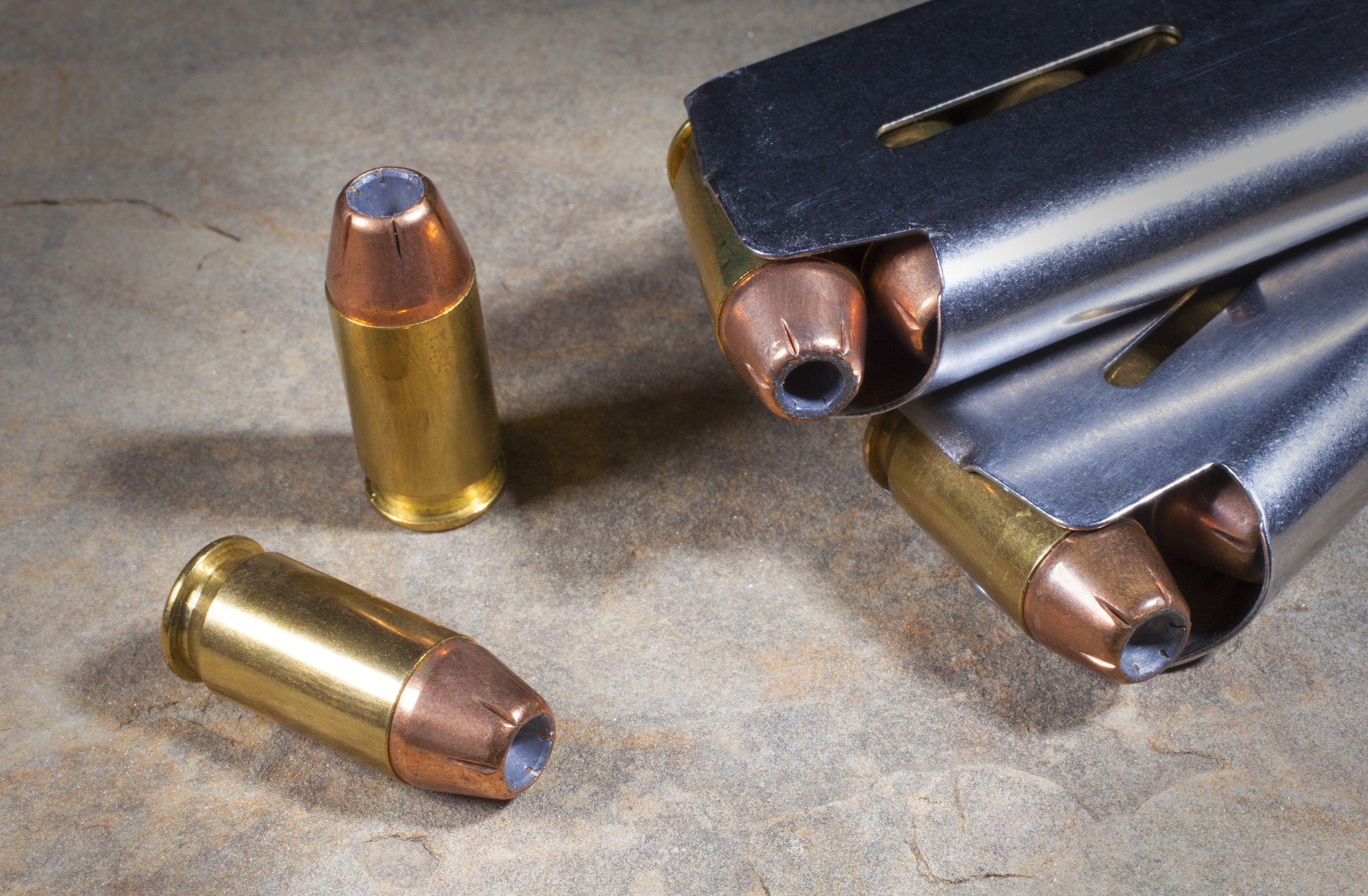 The efficacy of a hollow point bullet in home defense